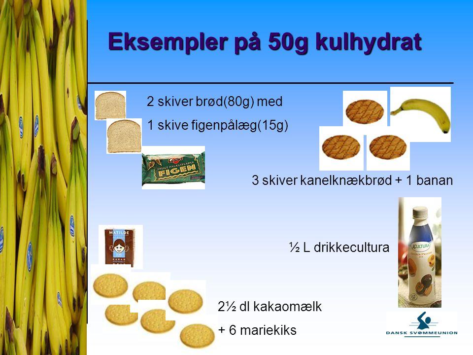 Eksempler på 50g kulhydrat