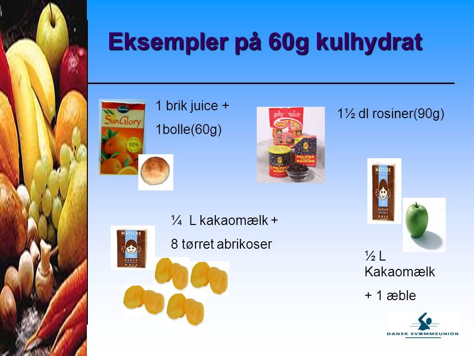 Eksempler på 60g kulhydrat