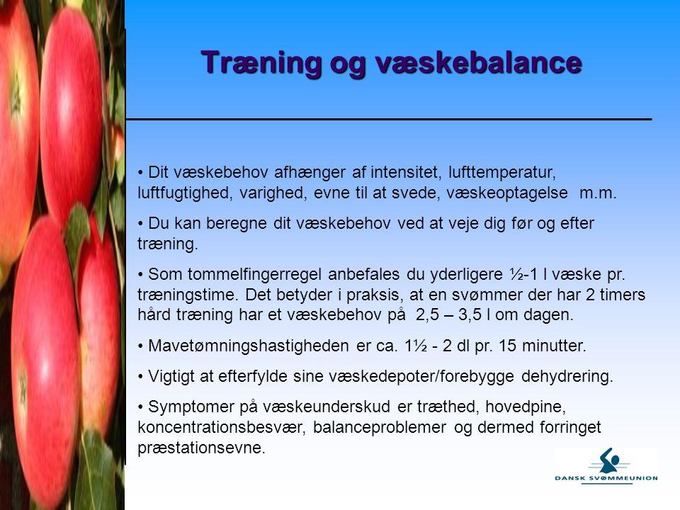 Træning og væskebalance