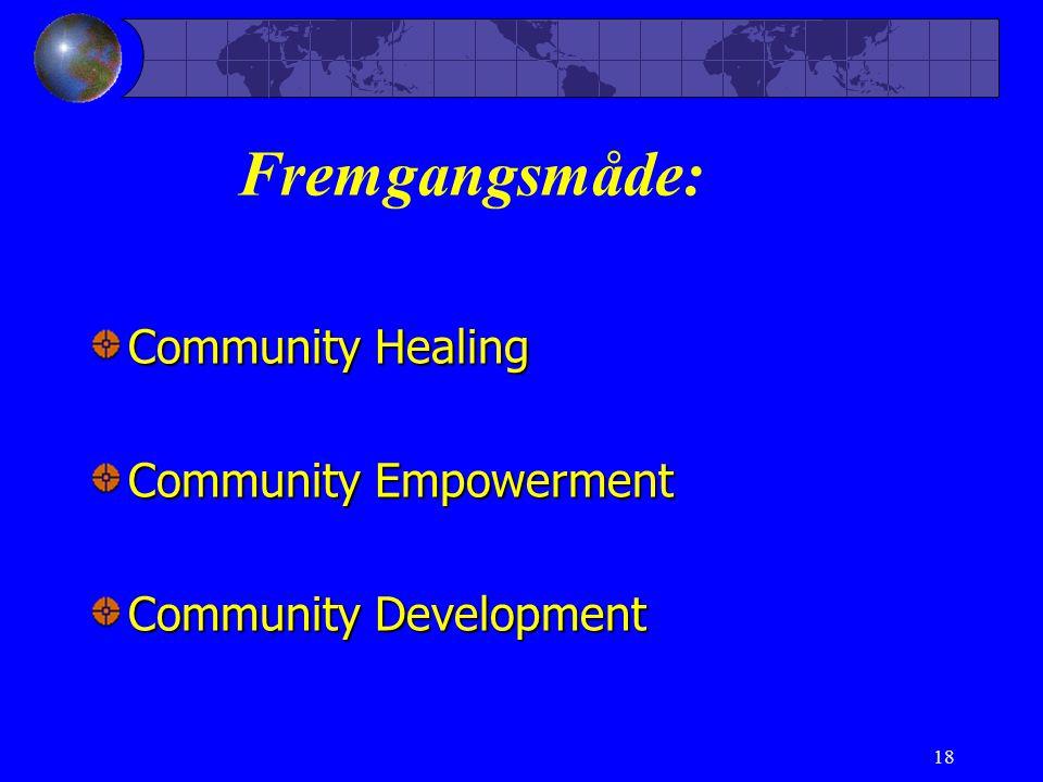 Fremgangsmåde: Community Healing Community Empowerment