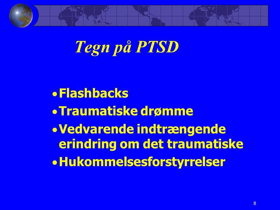 Tegn på PTSD Flashbacks Traumatiske drømme