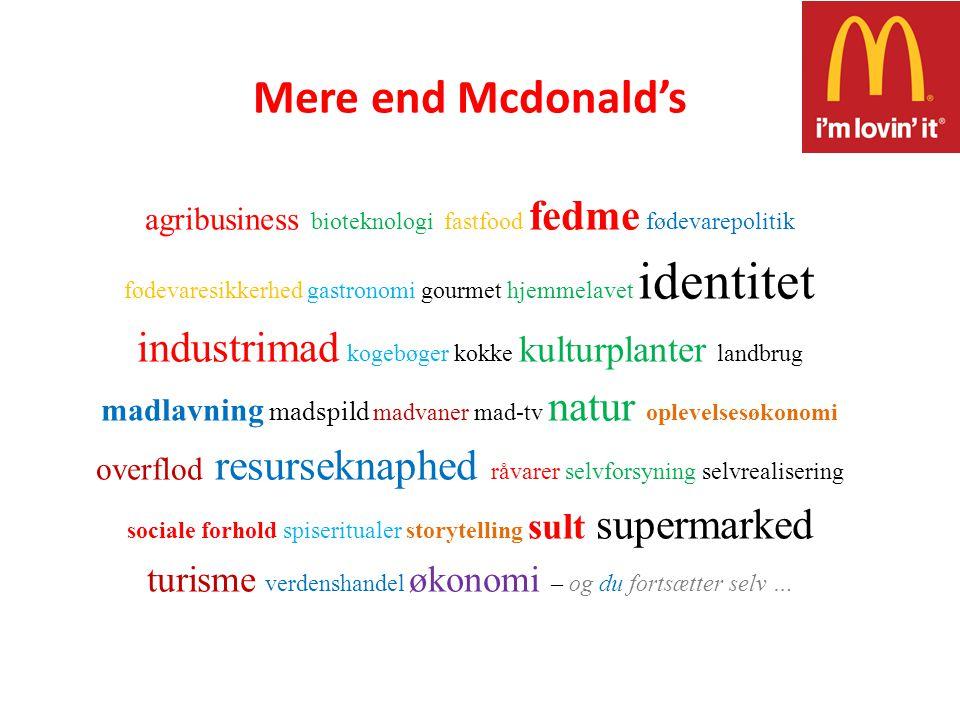 Mere end Mcdonald's