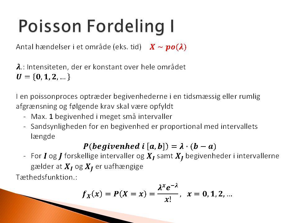 Poisson Fordeling I