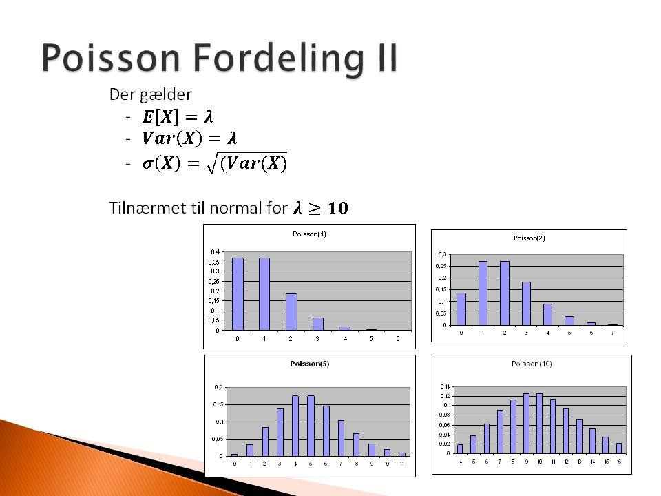 Poisson Fordeling II