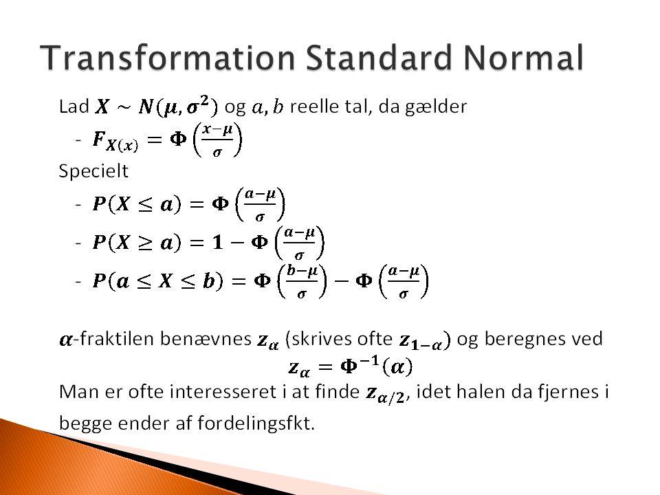 Transformation Standard Normal