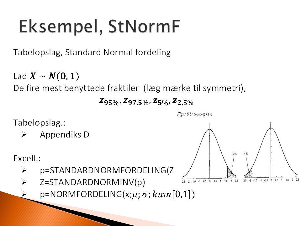 Eksempel, StNormF