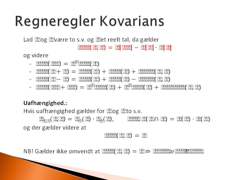 Regneregler Kovarians