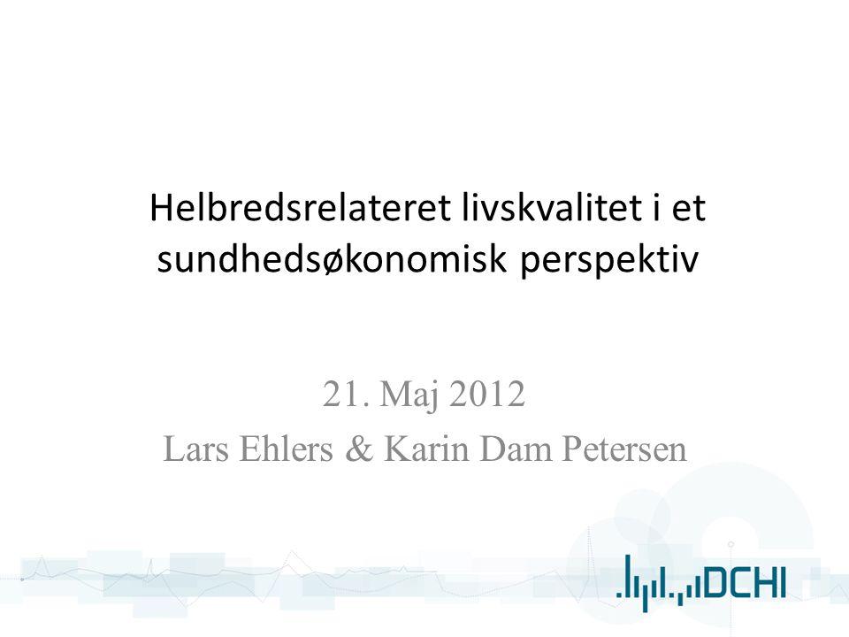Helbredsrelateret livskvalitet i et sundhedsøkonomisk perspektiv