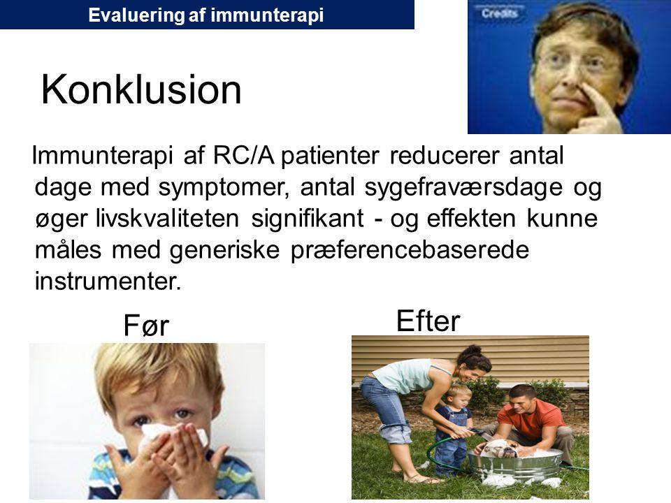 Evaluering af immunterapi
