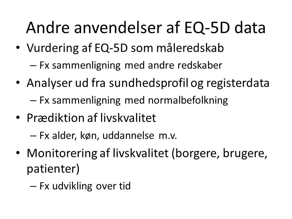 Andre anvendelser af EQ-5D data