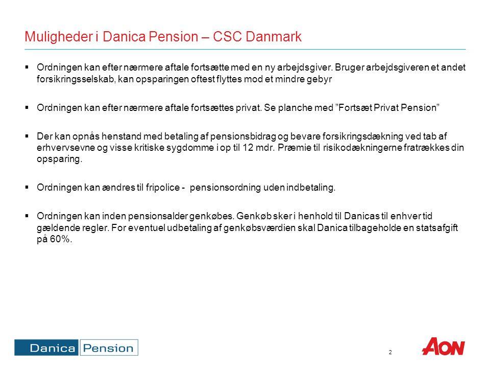 Muligheder i Danica Pension – CSC Airline Solutions
