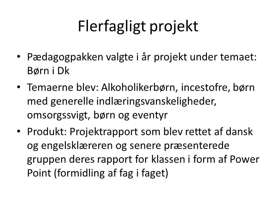 Flerfagligt projekt Pædagogpakken valgte i år projekt under temaet: Børn i Dk.