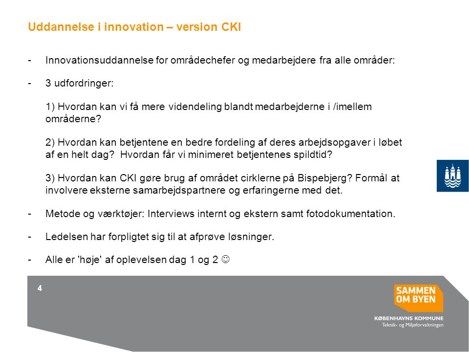 Uddannelse i innovation – version CKI