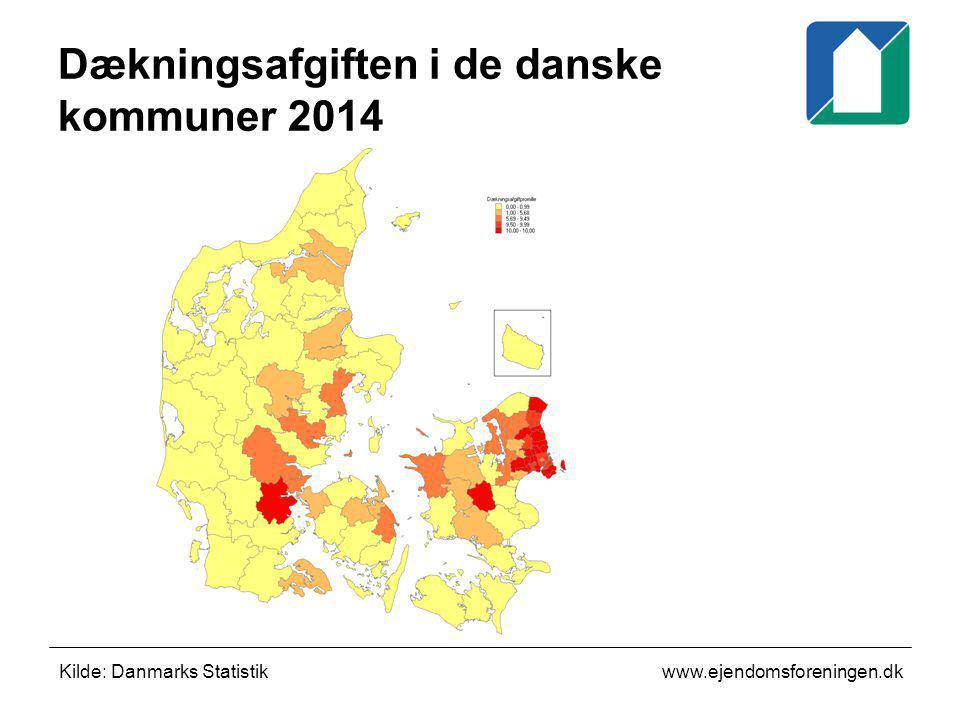 Dækningsafgiften i de danske kommuner 2014