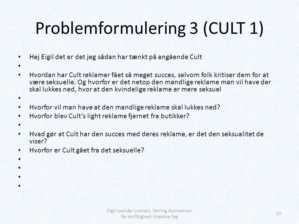 Problemformulering 3 (CULT 1)