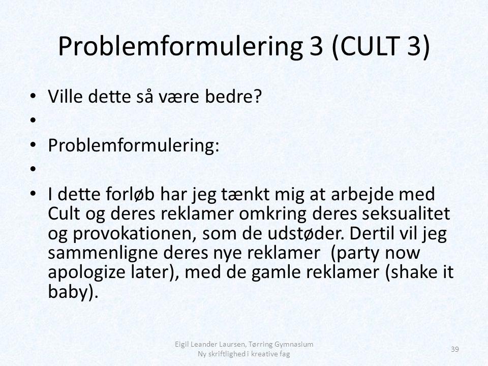 Problemformulering 3 (CULT 3)