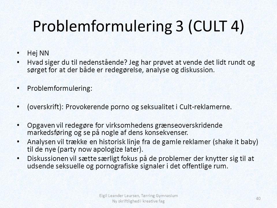 Problemformulering 3 (CULT 4)