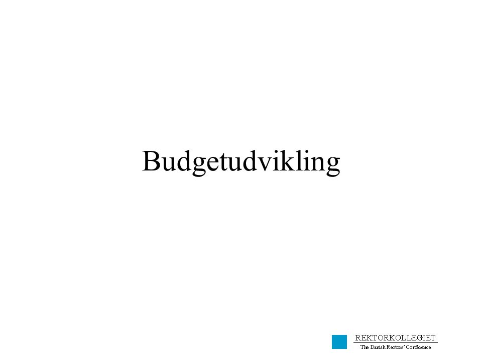 Budgetudvikling