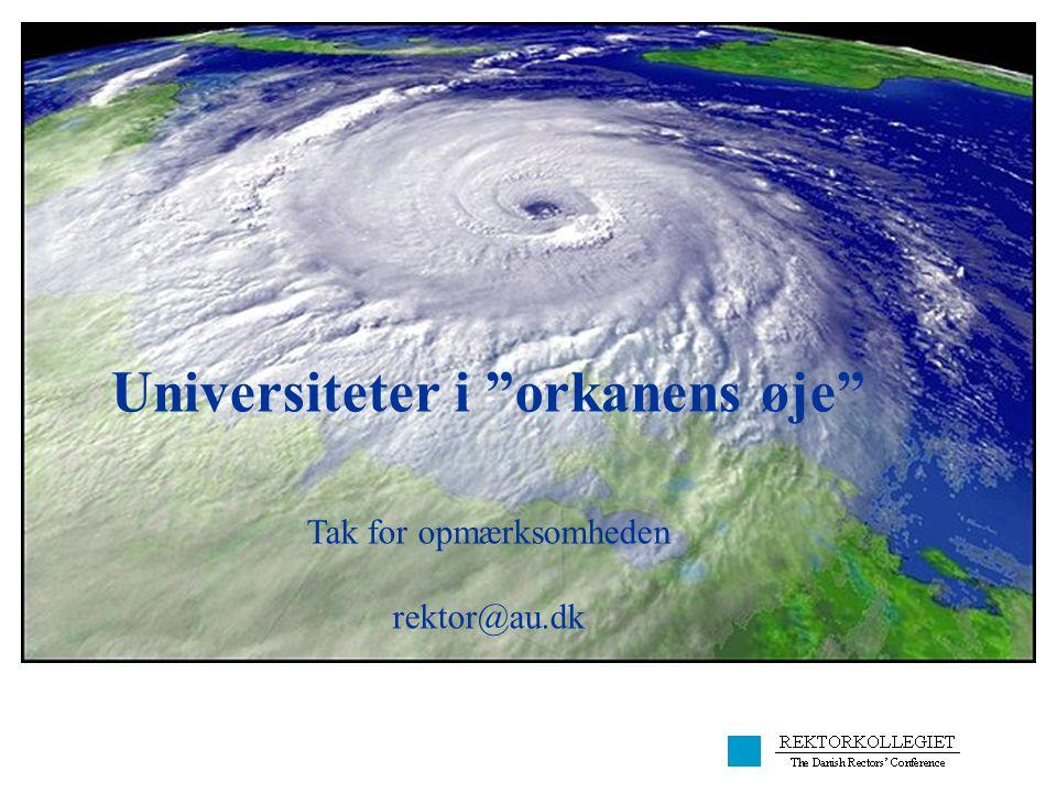 Universiteter i orkanens øje