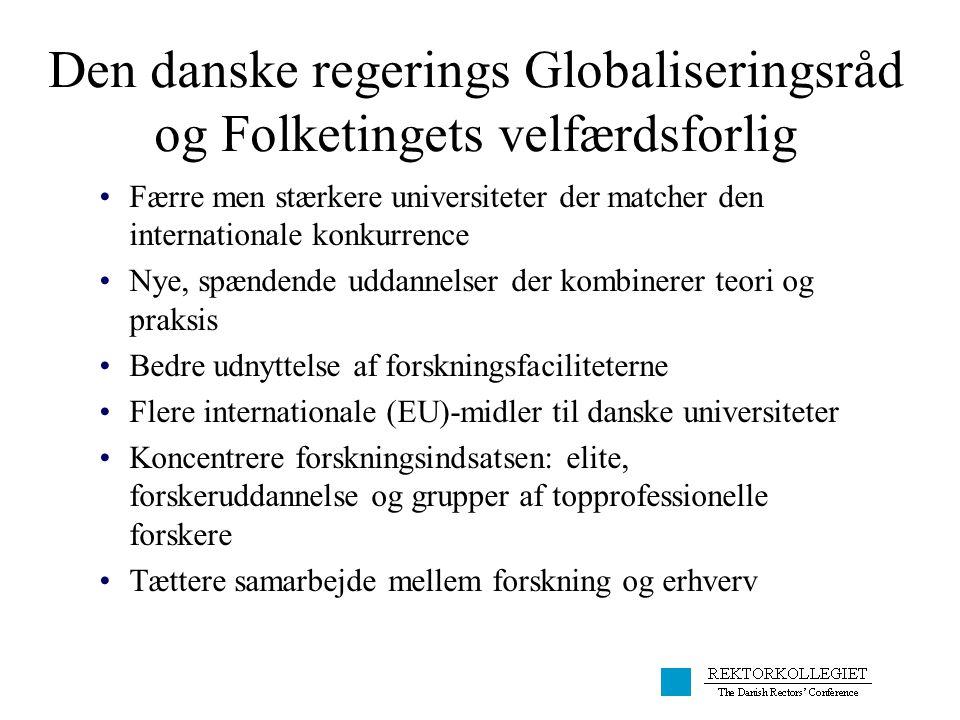 Den danske regerings Globaliseringsråd og Folketingets velfærdsforlig