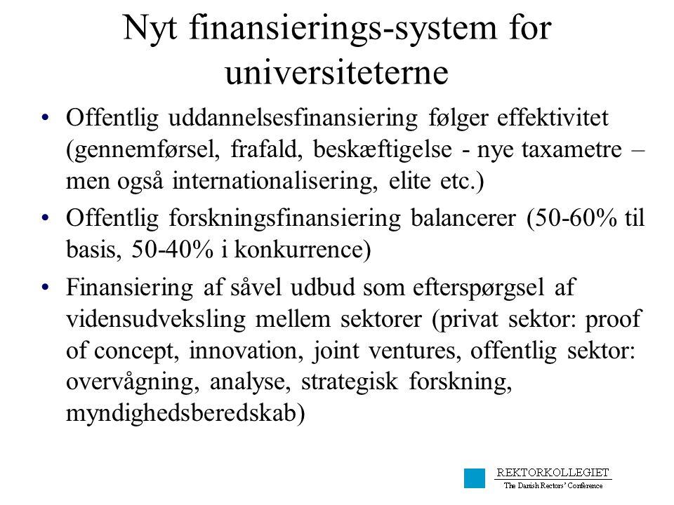 Nyt finansierings-system for universiteterne