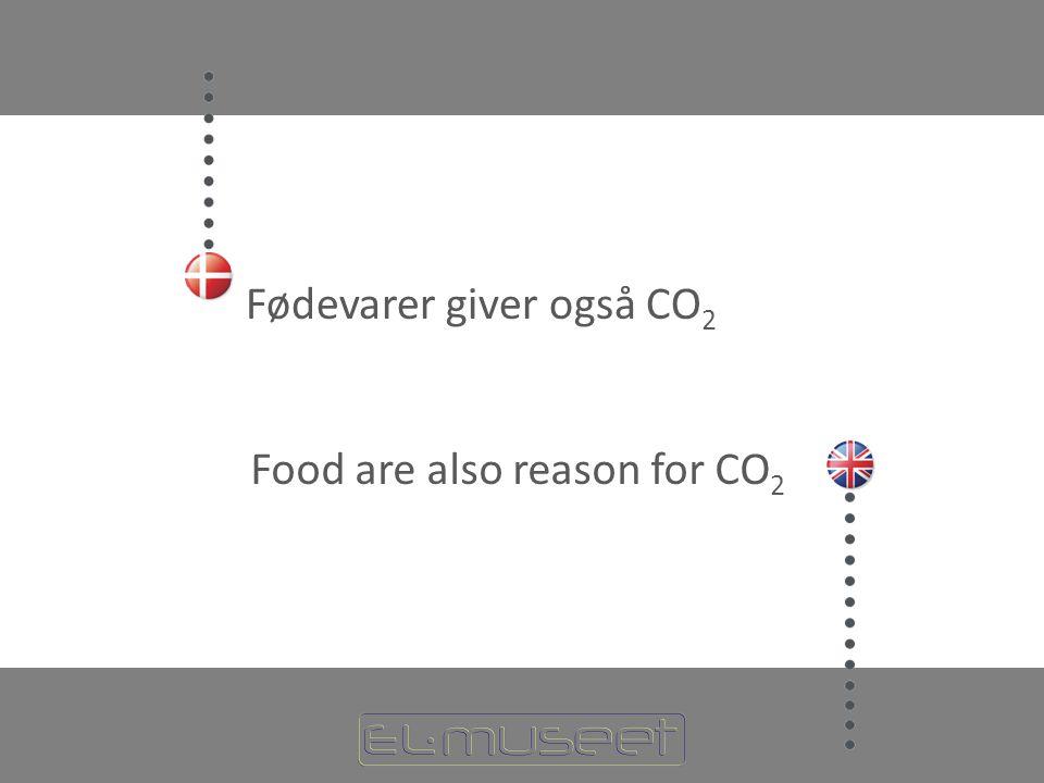 Fødevarer giver også CO2