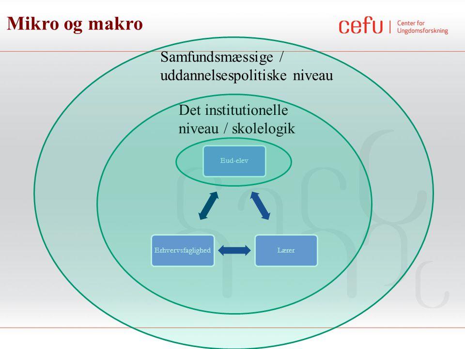 Mikro og makro Samfundsmæssige / uddannelsespolitiske niveau