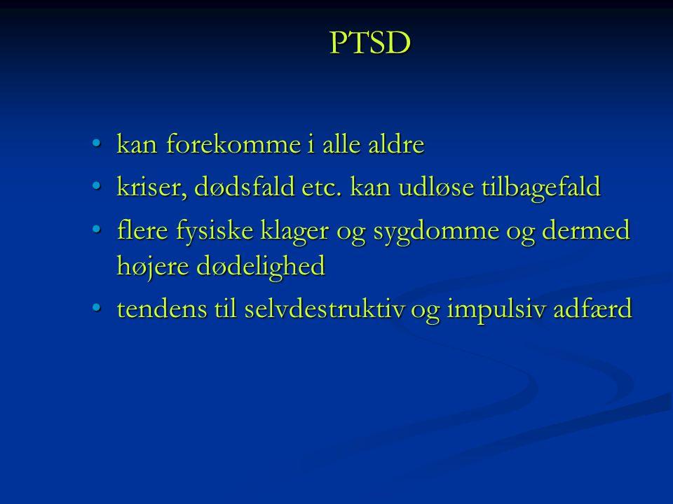 PTSD kan forekomme i alle aldre