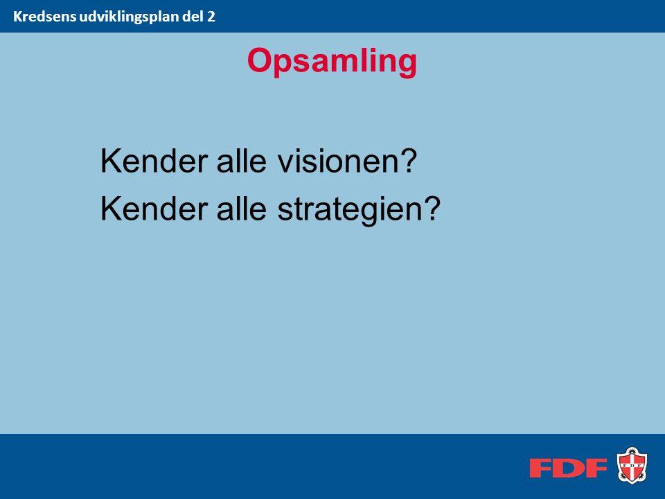 Kender alle visionen Kender alle strategien