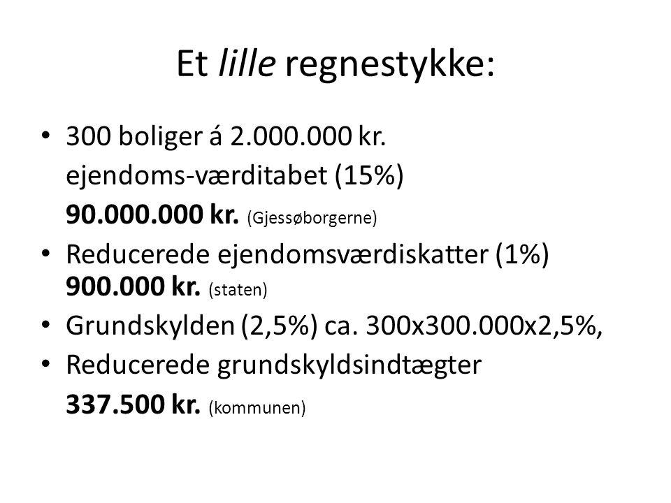 Et lille regnestykke: 300 boliger á 2.000.000 kr.