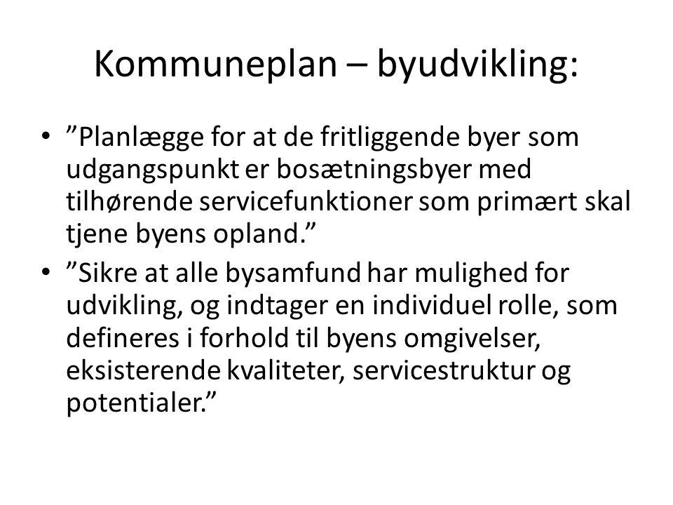 Kommuneplan – byudvikling: