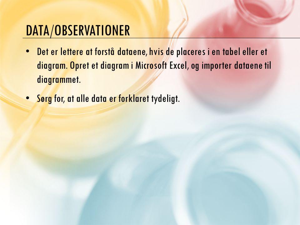 Data/observationer