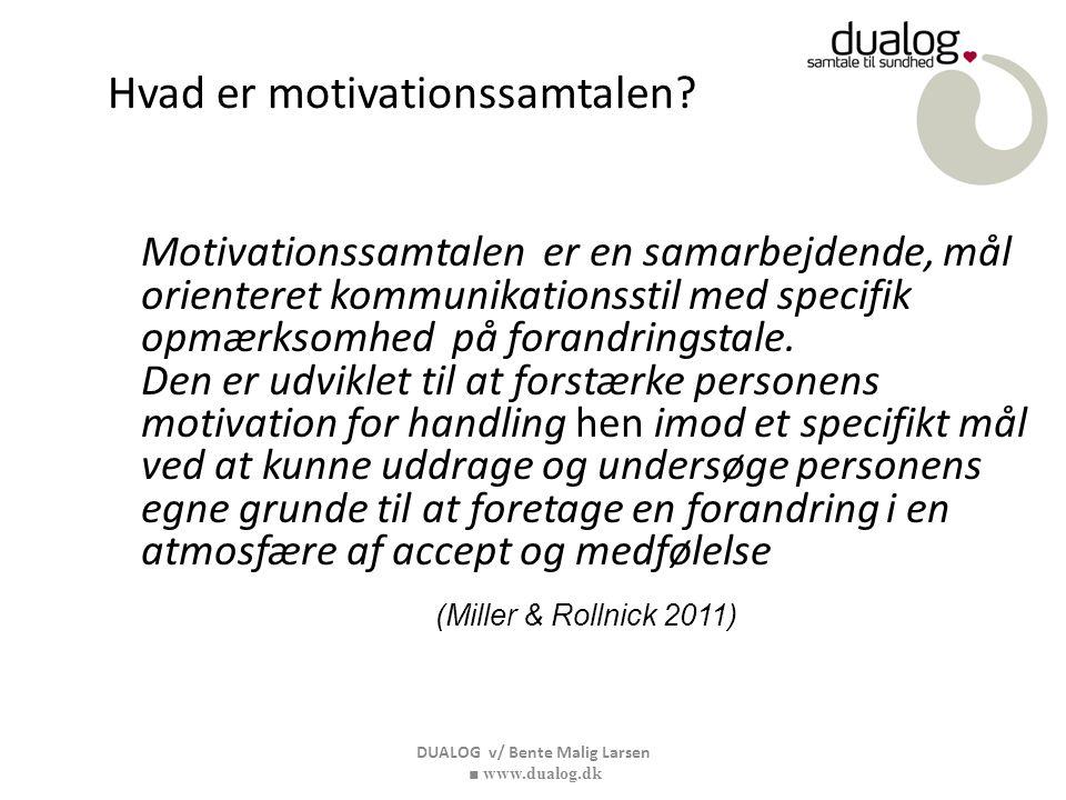 Hvad er motivationssamtalen