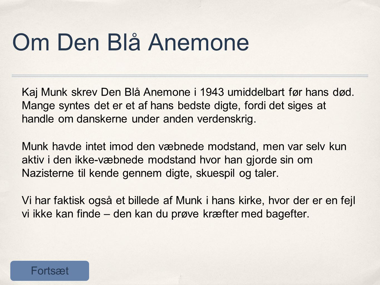 Om Den Blå Anemone