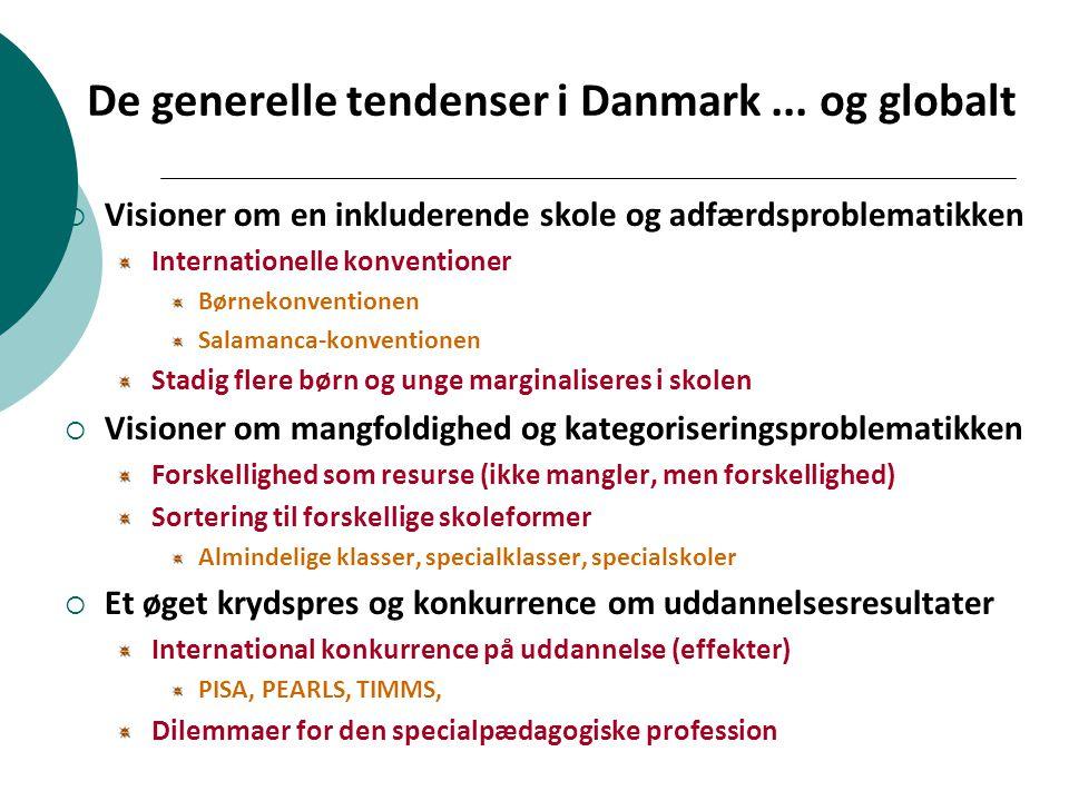 De generelle tendenser i Danmark ... og globalt
