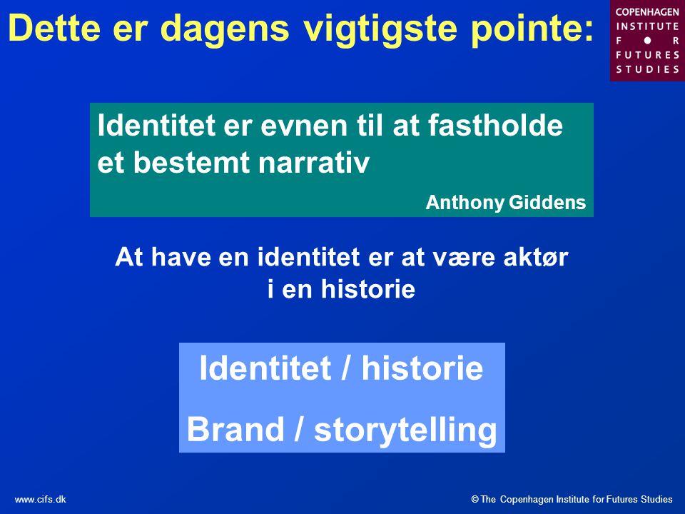 At have en identitet er at være aktør i en historie