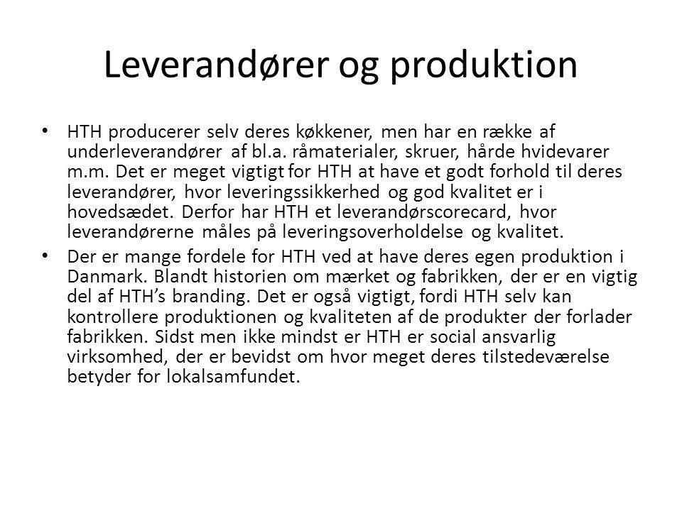 Leverandører og produktion