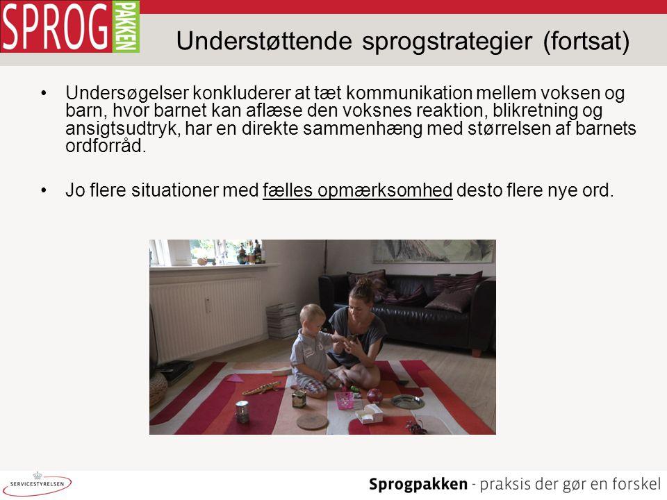 Understøttende sprogstrategier (fortsat)