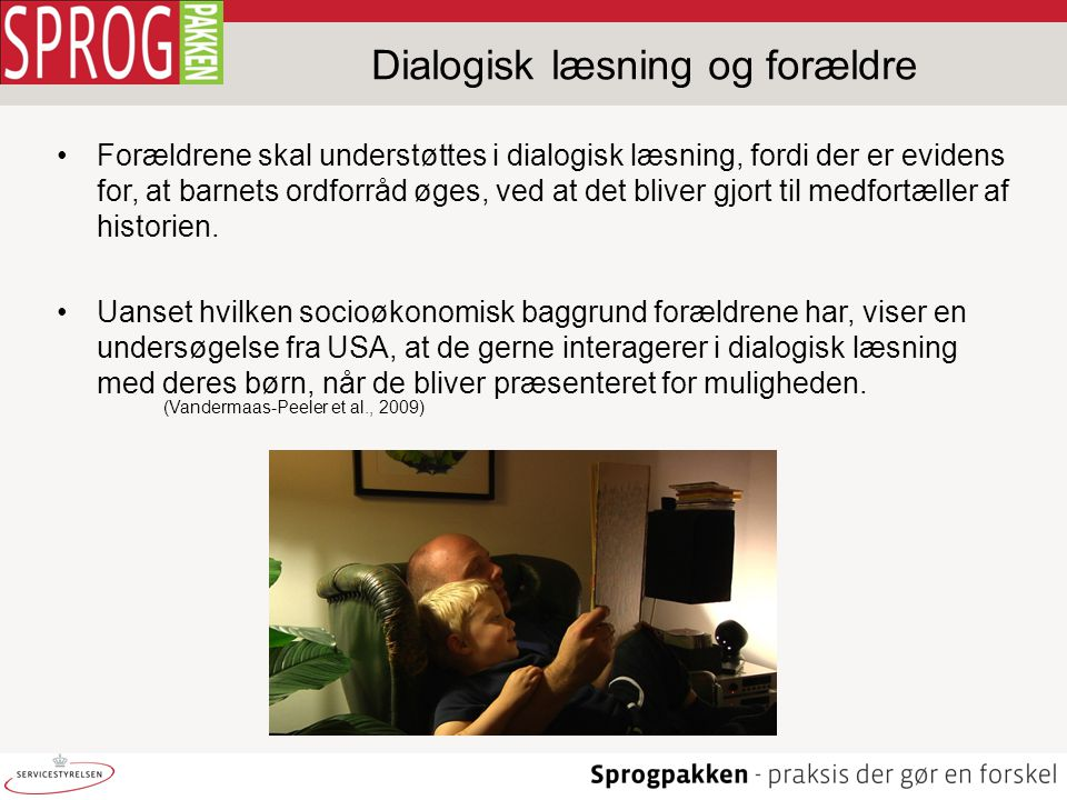 Dialogisk læsning og forældre