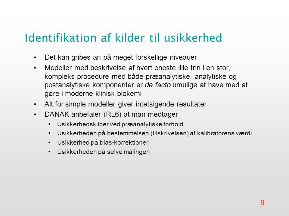 Identifikation af kilder til usikkerhed