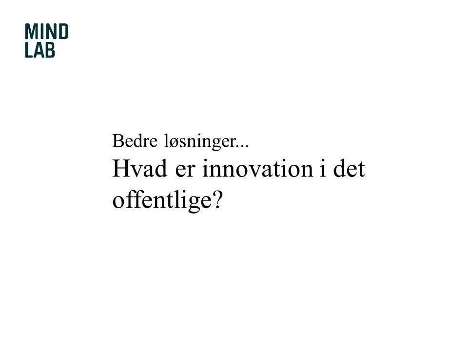 Hvad er innovation i det offentlige