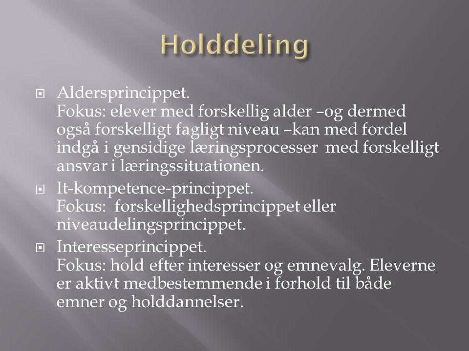 Holddeling