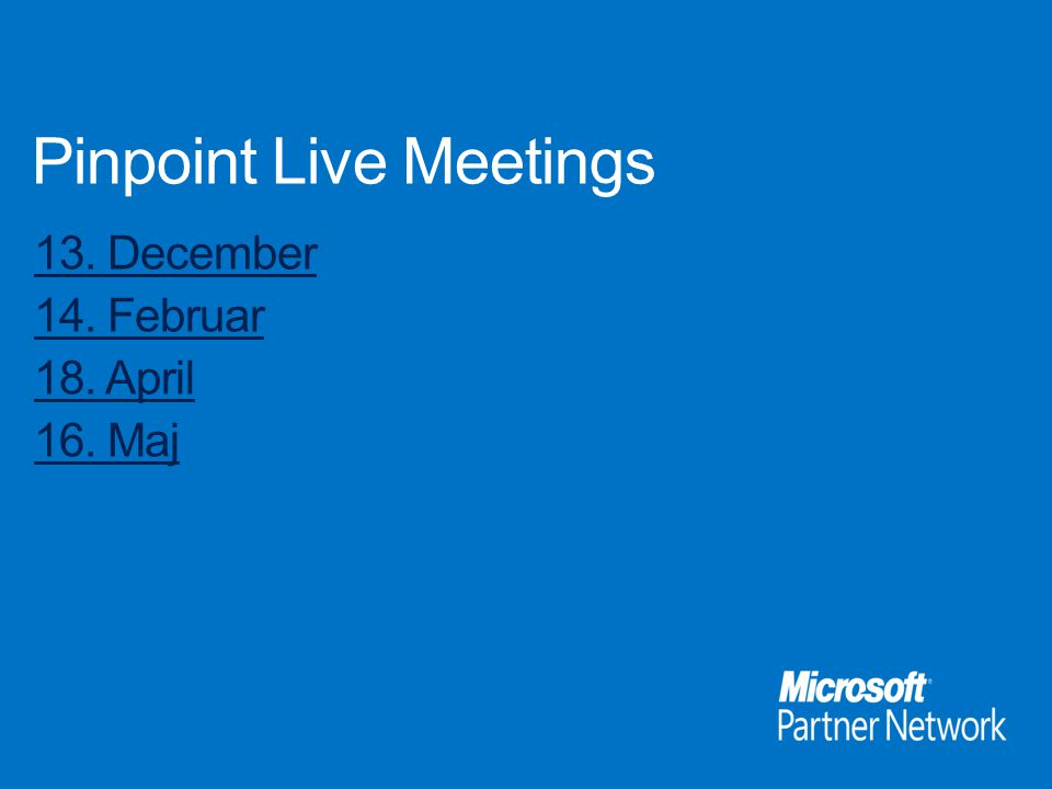 Pinpoint Live Meetings