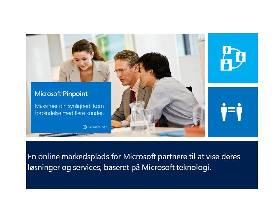 En online markedsplads for Microsoft partnere til at vise deres løsninger og services, baseret på Microsoft teknologi.