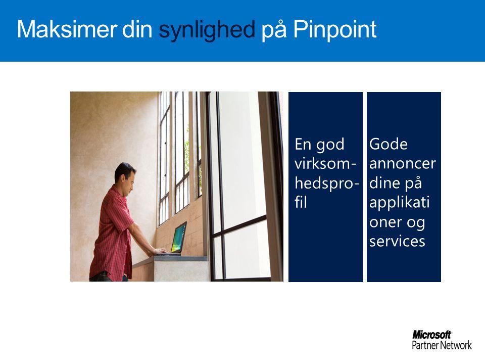 Maksimer din synlighed på Pinpoint