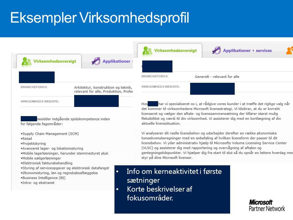 Eksempler Virksomhedsprofil