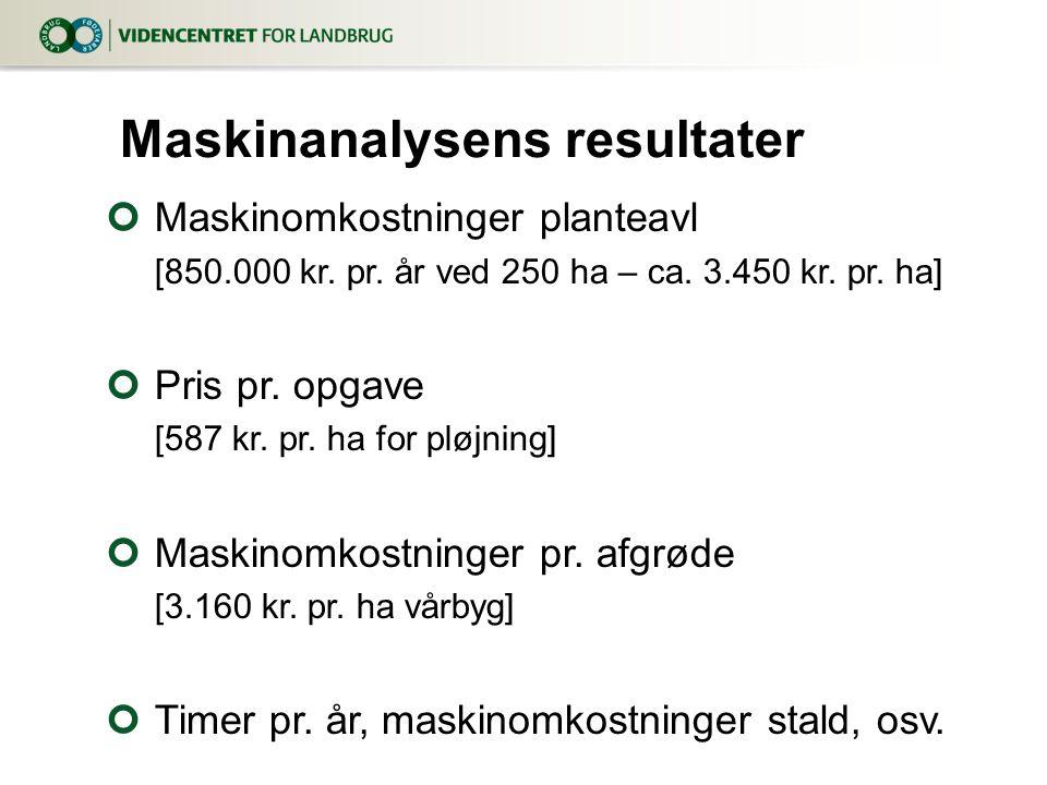 Maskinanalysens resultater
