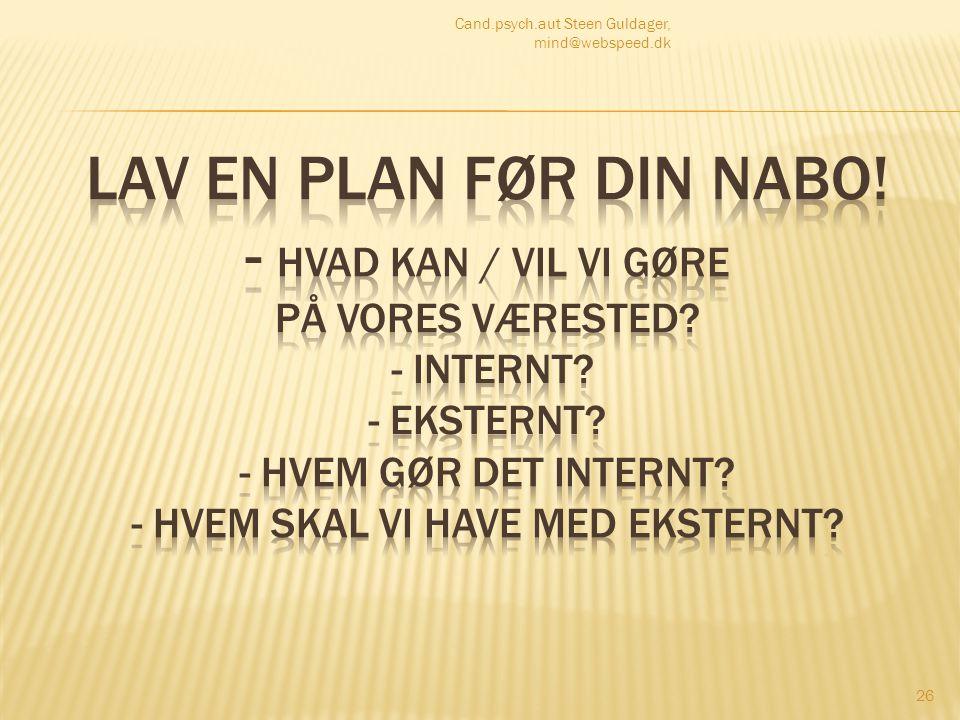 Cand.psych.aut Steen Guldager, mind@webspeed.dk