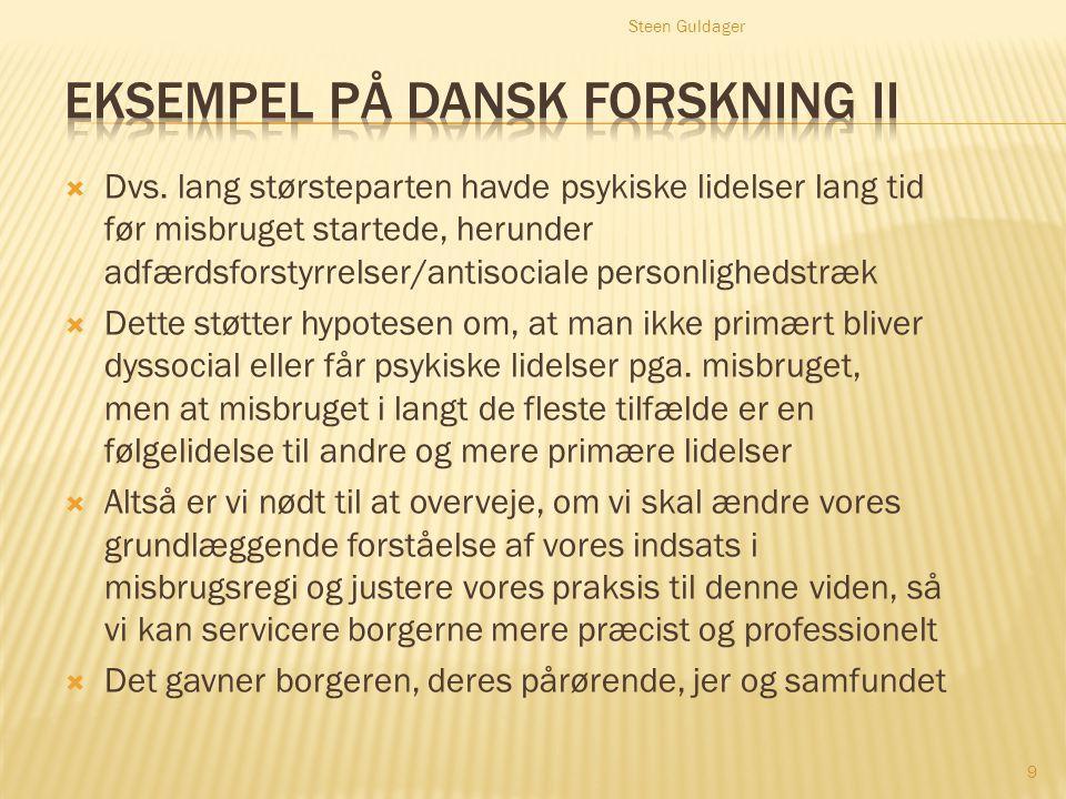 Eksempel på dansk forskning II
