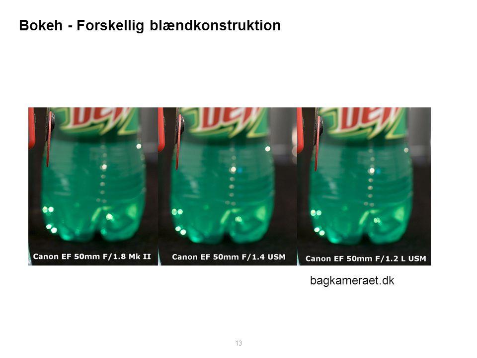Bokeh - Forskellig blændkonstruktion